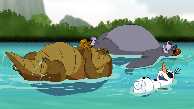 Relaxing In the River by BenJJedi