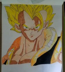 gogeta with colors by nitinrajput90