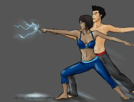 Sparks Are Flying - Makorra - Legend of Korra by isa-chan