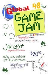 Global Game Jam Poster by fidgetwidget