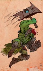 Orc Warrior Commissions by JordanMichaelJohnson