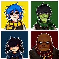 [Gorillaz] But they're wizards by XxkaibutsukoxX