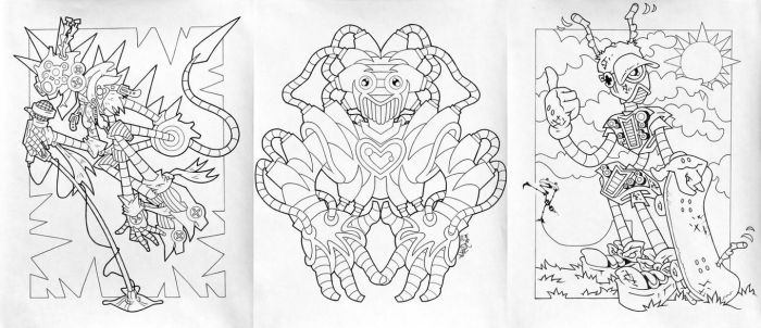 COLORING BOOK SAMPLE 3 by MYTH22