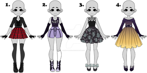 [Closed] Adoptable 18 - Outfits by minty-mango