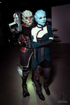 Me as Liara and Nia as Nyreen by Vasya-chan