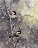 Chickadees by MistiqueStudio