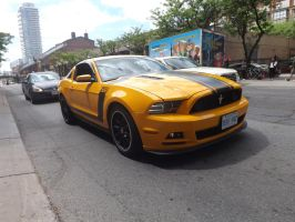 The Yellow Mustang At Jarvis And King #2 by Neville6000