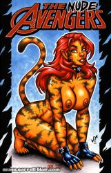 Naughty Tigra sketch cover by gb2k