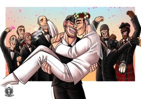 TF2 Day 26: Getting married by DeathRage22