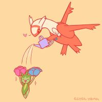 Latias and Roselia