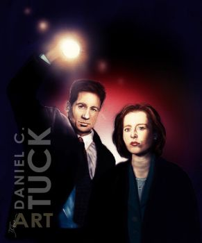 Mulder and Scully by dctuck