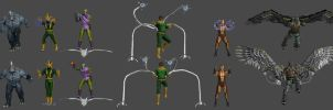Sinister Six Pose Pack by WildGold