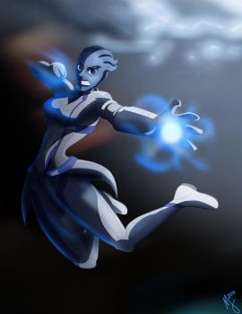 ME2: Liara by Maloneyberry