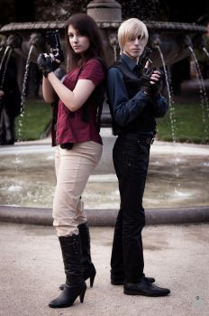 Helena Harper and Leon Kennedy by MadeInHeaven1979