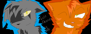 cute Graypaw and Firestar by W-O-T-A-N