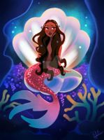 Mermaid in Clamshell throne by DylanBonner