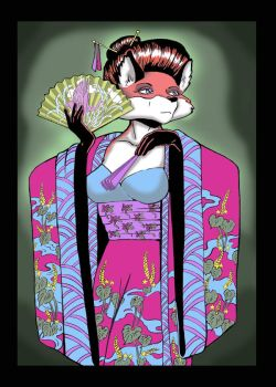 Fox Geisha by artemis1138