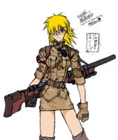 Seras Victoria Coloured by AlmightyNabeshin