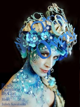 Once Upon A time jam glitter face paint body art by BodyPaintingByCat