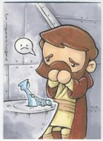 obi-wan cries for anakin by katiecandraw