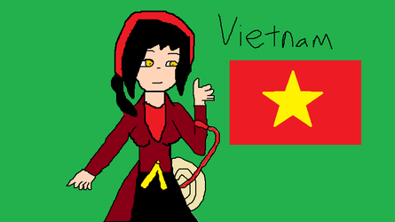 Vietnam's Ao Tu Than Dress by cupcakes11