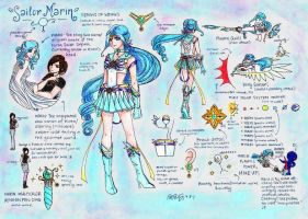 Sailor Marin's Ref Sheet by thelettergii
