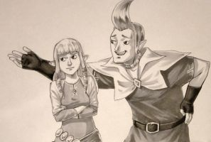 Commish - Groose and Zelda by invertings