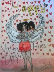 Late valentines day drawing by scarfear15