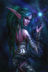 Tyrande the Night Warrior by the-unilluminated