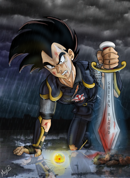 Vegeta Medieval Warrior by mayabriefs
