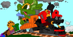 Casey Junior and the Railway Dragon by SammyD-Productions