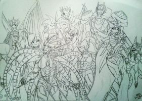 One group of my favorite OCs by 55MAZU55