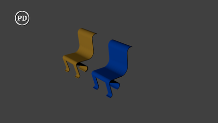 Blender artsy chair - PD/CC0 by over2sd