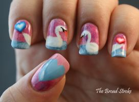Swans in Love by ProlificMuse