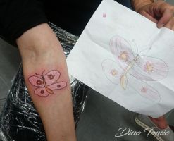 grandchild drawing tattoo by AtomiccircuS