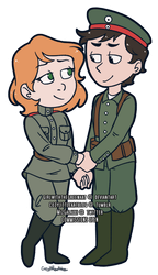[Chibi Commission] Russia and Germany by GirlWithTheGreenHat