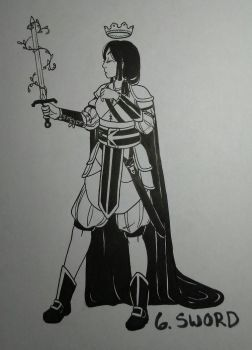 Inktober Day 6: Sword by Zanyzarah