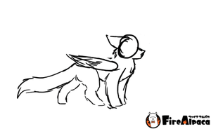 Winged cat walk cycle animation by halothekittycat