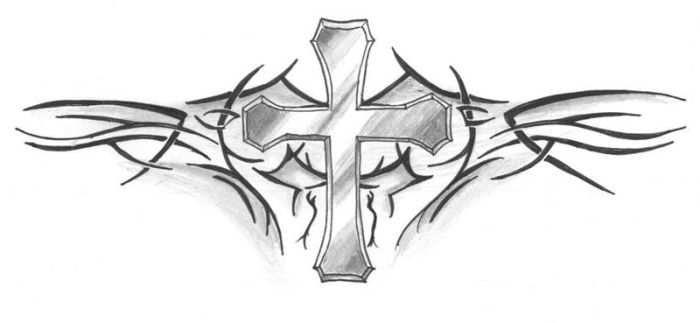Cross Tattoo by NioTheDreamer