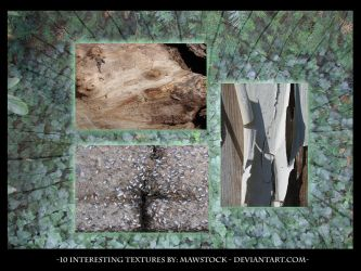 10 textures stock pack by mawstock