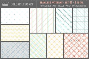 Seamless Patterns Set 02 - Misc + Pixels by colorfilter