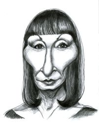 Anjelica Huston by Caricature80