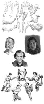 Sketchbook - Anatomy, Expressions and Gestures by Changinghand