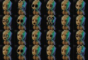 The Many Faces of Groot! by RedSaucers