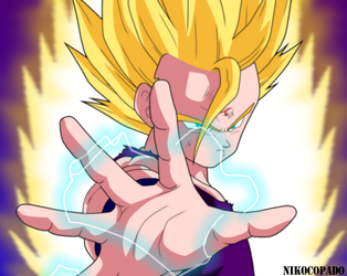 gohan ssj2 - No more games! by nikocopado