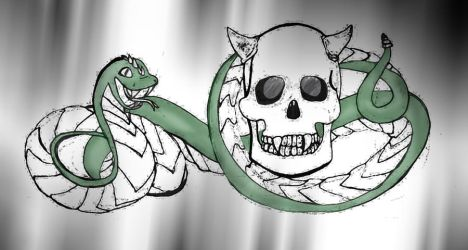 Snake and Skull by NightWolf7272