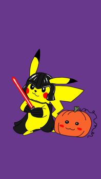 PikachuHalloween by Jenieo
