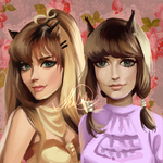 Commission: Paisley and Pandora by HalChroma