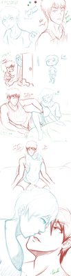 KnB Spring Cleaning sketches by landiddy