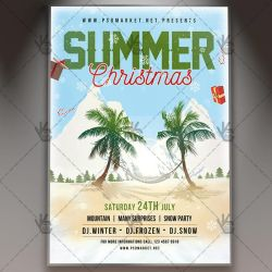 Summer Christmas Flyer - PSD Template by PSDmarket